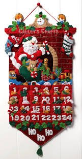 christmas advent calendar bucilla must be santa felt christmas advent calendar kit