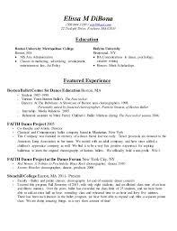 Dance Instructor Resume Sample by Dance Resume Corpedo Com