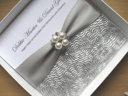 and white wedding invitations luxury textured wedding invitation silver white wedding card