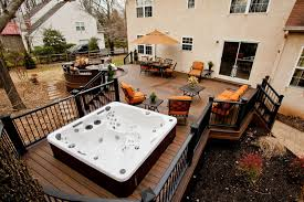Backyard Deck Pictures by 63 Tub Deck Ideas Secrets Of Pro Installers U0026 Designers