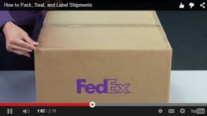 How To Put A Box Together How To Pack Express And Ground Fedex