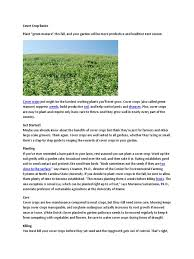 cover crop basics weed vegetables