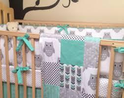 Crib Bedding Owls Owl Crib Bedding Etsy