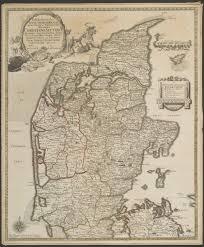 Map Of Denmark 1767 Map Of The Jutland Peninsula Of Denmark Maps Pinterest