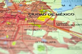 Map De Mexico by Road Map Of Mexico City And Surrounding Areas Stock Photo