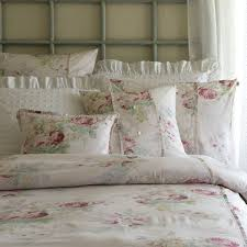 white embroidery lace egyptian cotton duvet cover set shabby chic