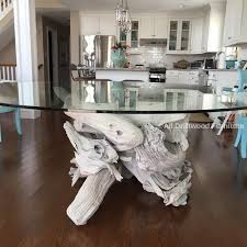 Nautical Dining Room Driftwood Dining Table Crafted From Gulf Island Driftwood
