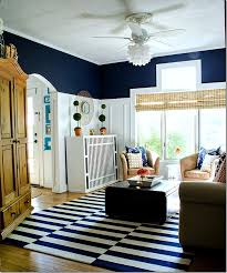 Blue And White Living Room Decorating Ideas Navy And White Board U0026 Batten Living Room Design