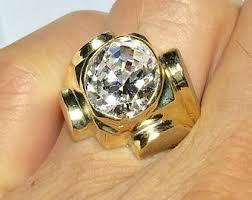 rings mens diamond images Mens diamond ring etsy jpg