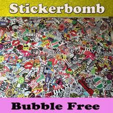 jdm sticker bomb matte glossy jdm euro style stickerbomb vinyl car wrap sticker