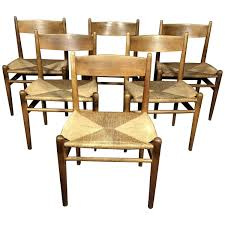Finch Fine Furniture Hans J Wegner Oak And Papercord Dining Chairs Ch36 Denmark 1962
