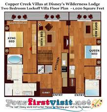 Two Bedroom Floor Plan Review Copper Creek Villas And Cabins At Disney U0027s Wilderness
