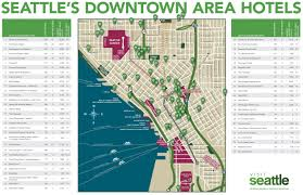 Map Of Seattle Seattle Downtown Hotels Map