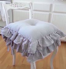 Shabby Chic Chair Pads by French Country Chair Cushions Ebay