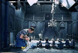 tim burton set design exploring graphic design