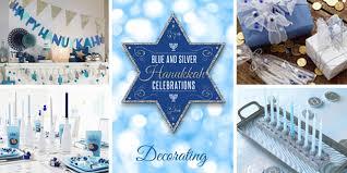 simplicity blue and silver hanukkah celebrations
