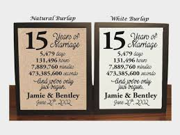 15 year anniversary gifts wedding anniversary gifts paper canvas 15 year anniversary 15