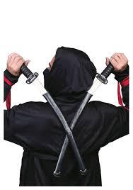 Ninja Halloween Costumes Double Ninja Swords