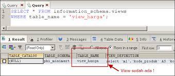 query membuat tabel di sql membuat view di mysql mysql tutorial bahasa indonesia by phi