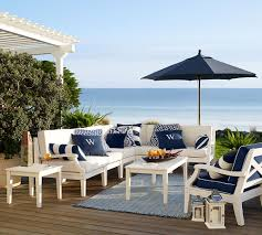 White Patio Furniture Sets Build Your Own Hstead Painted Sectional Components White