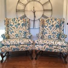 Wingback Chairs For Sale Find More Reduced Vintage Ethan Allen Crewel Embroidered