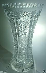 Vintage Waterford Crystal Signed 8 Inch Flower Vase In Vintage Cut Glass Patterns Vintage Cut Glass Or Crystal Flower