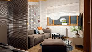 Home Decor Ideas For Studio Apartments Living And Sleeping Areas Exist In Harmony In These Comfortable