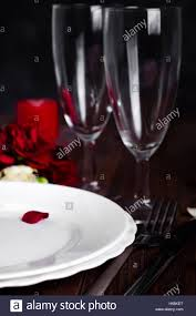 Romantic Table Settings Romantic Valentine Candle Light Dinner Table Setting With Red