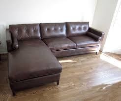 Leather Sectional Sofa With Chaise Dark Brown Leather Sectional Sofa With Chaise Lounge Image Amazing