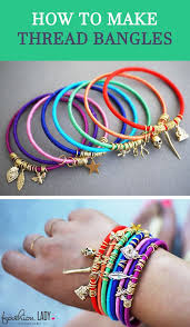 hand make bracelet images How to make thread bangles jpg jpg
