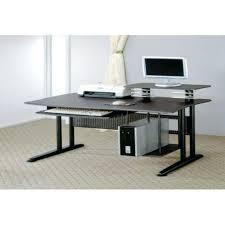 Desk For Dual Monitor Setup Long Skinny Computer Desk Corner Small Spaces Desks Gaming Dual