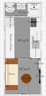 tiny floor plans free tiny house floor plans 8 x 20 tiny house plan
