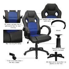 Blue Leather Executive Office Chair Amazon Com Homall Executive Swivel Leather Office Chair With
