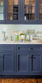 tile countertops blue kitchen backsplash cut mirorred glass sink