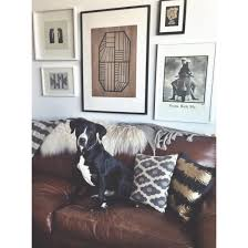 Madrid Leather Sofa by Doggy Decor Gallery Wall Leather Couch Sheepskin Pillows Lab