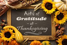 acts of gratitude at thanksgiving homeschooling now