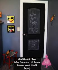 black doors and a chalkboard shabby paints
