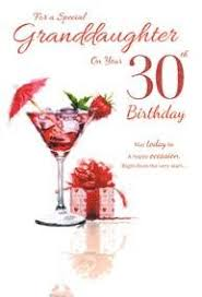 for a special granddaughter on your 30th birthday card u2013 7383 cg