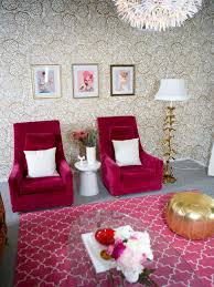 black and white and pink living room home design ideas