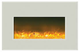 36 Electric Fireplace Insert by Amantii Insert 30 4026 Whtgls Electric Fireplace Insert With White