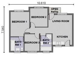 3 bedroom house plan 3 bedroom house plans free home decor techhungry us