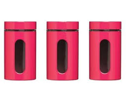 coffee kitchen canisters pink tea coffee sugar storage jars pots kitchen canisters 1000ml