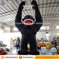 gorilla balloon animal type black gorilla balloon for promotion