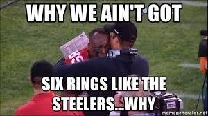 Anti 49ers Meme - why we ain t got six rings like the steelers why vd crying