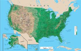 us relief map united states physical map wall mural from academia