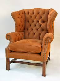 Armchair Leather Traditional Armchair Leather Wing Bergere Chippendale