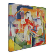 trademark art trademark fine art quot elephant horse and cow franz marc painting print