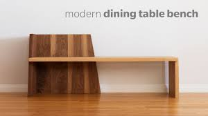 mid century modern dining bench how to build woodworking youtube