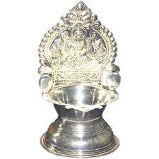 Silver Items Silver Store Pooja Items Kamakshi Deepam 50 Grams Kamakshi