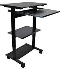 Mobile Computer Desks Workstations Amazon Com Pc 130a Mobile Computer Cart Computer Desks
